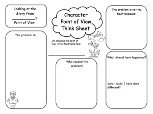 fairy tale point of view graphic organizer